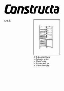 Constructa Ck65 Fridge   Refrigerator Download Manual For