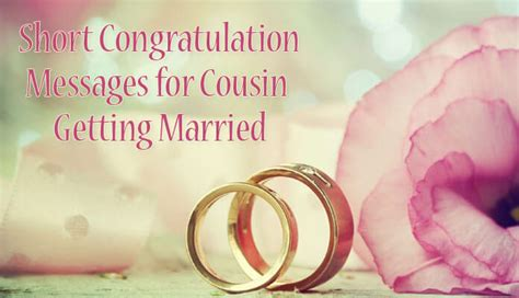 short congratulation messages  cousin  married