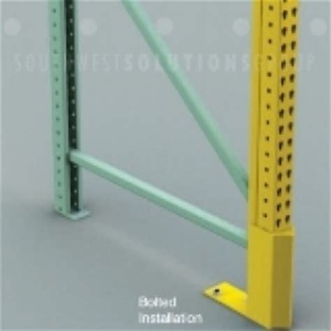 damaged warehouse pallet rack uprights frames repair