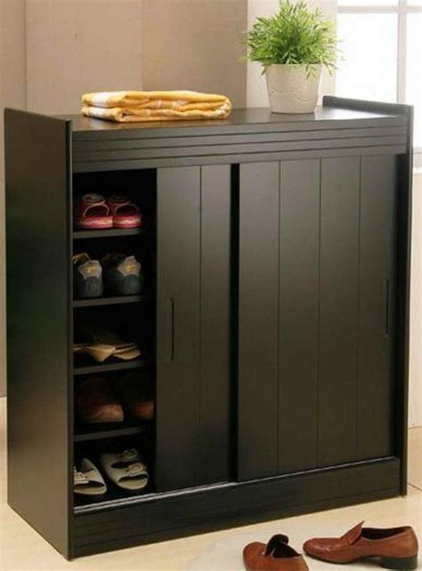 pin  shoe cabinets  doors  simple shoes storage