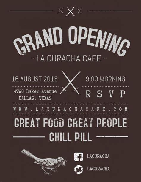 vintage grand opening flyer template restaurant poster