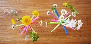 Blumen Basteln Kinder : blumen deko mit kindern basteln strohhalmpuschel f r bl mchen ~ Frokenaadalensverden.com Haus und Dekorationen