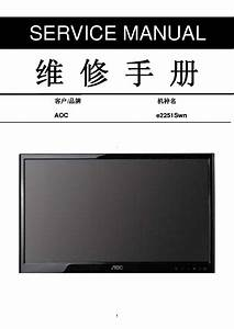 Aoc E2251swn Lcd Monitor Service Manual Download