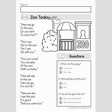 Reading Comprehension & Fluency  Phonics Poems  Literacy  Reading Comprehension, English