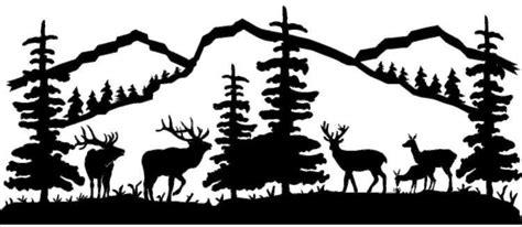 mountain scene deer  elk metal wall art powered