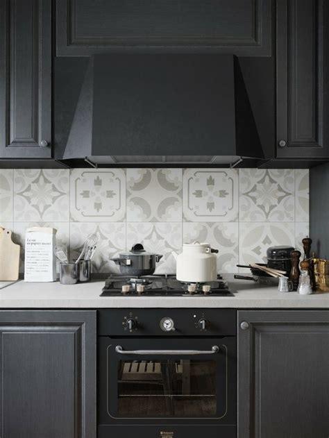 credence cuisine carreau ciment cuisine mat et cuisine et blanche 48