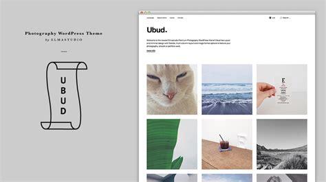 ubud  newest minimal photography wordpress theme