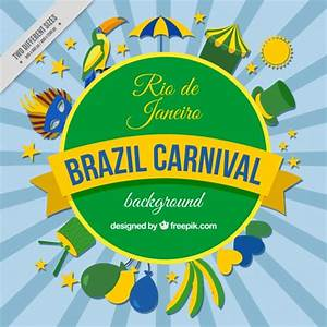 Brazilian carnival background with decorative elements ...