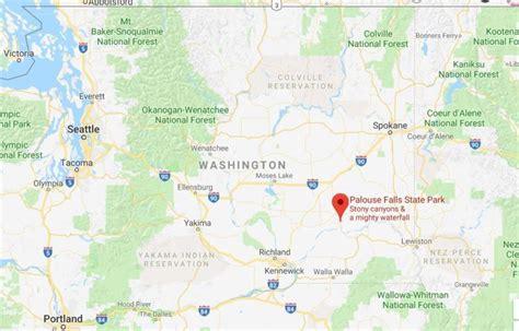 palouse map falls visit google maps thehotflashpacker location credit