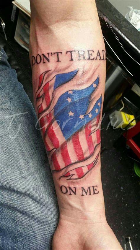 dont tread   american flag tattoo  tj cornelius