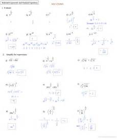 Radical and Rational Exponent Equations