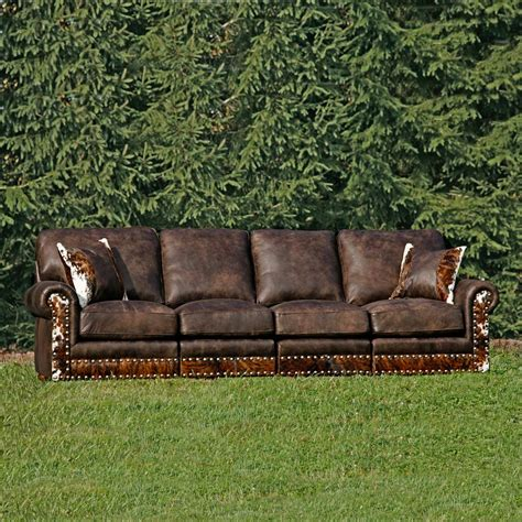western leather sectional sofa western furniture hinsdale stallone sectional sofa with