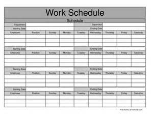 Monthly Work Schedule for Employees