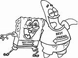 Coloring Friends Pages Spongebob Patrick sketch template