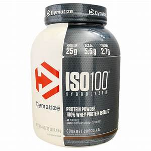 Dymatize Nutrition  Iso 100  Hydrolyzed  100  Whey Protein Isolate Powder  Gourmet Chocolate  48