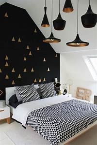 Papier Peint Noir Et Doré : papier peint 10 papiers peints tendance pour la chambre c t maison ~ Melissatoandfro.com Idées de Décoration