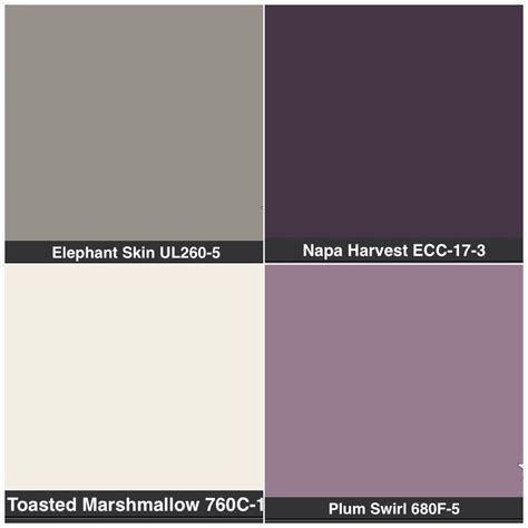 masterbathroom purple or gray or cabinets grey walls with purple accent wall