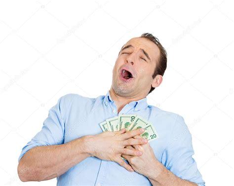 Happy Man Holding Cash — Stock Photo © Atholpady #41078141
