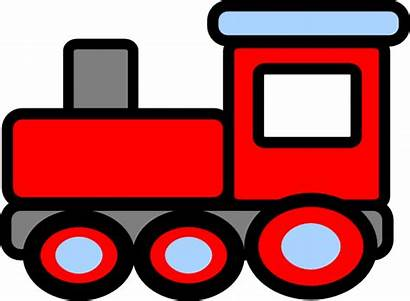 Train Clip Clipart Engine Caboose Clker Getdrawings