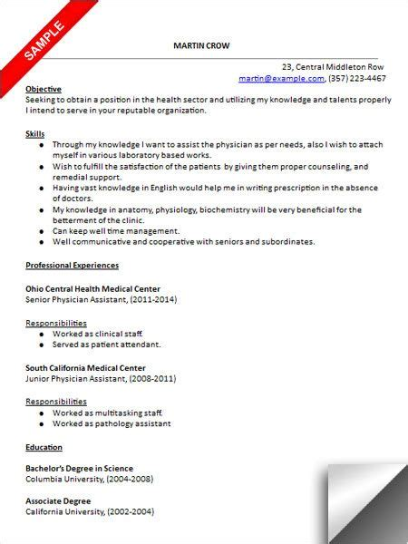 Pa Resume by Physician Assistant Resume Sle Cover Letter Sle
