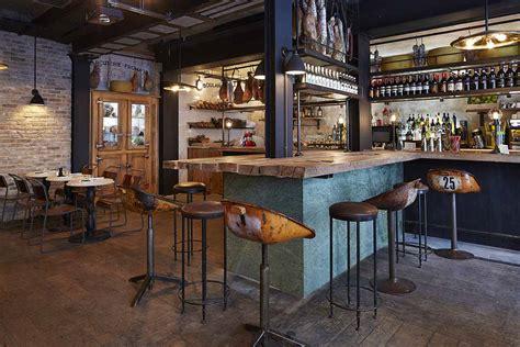 decoracion industrial  restaurantes italianos