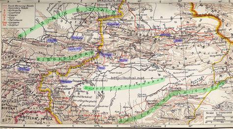 Tian Shan Mountains Map