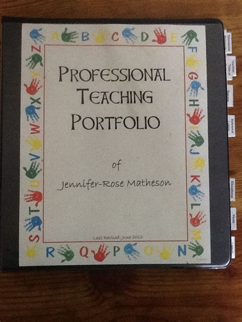 Educational Portfolio Template back collaborators professional teaching portfolio