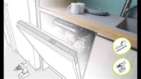 cuisine equiper cuisine équipée poser un lave vaisselle en vidéo