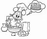 Pancake Coloring Pancakes Pages Crepes Coloriages Theme Coloringkids sketch template
