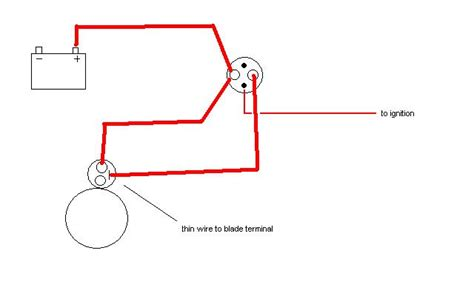 Mini Starter Wiring Diagram by This Is The Correct Mini Starter Wiring Right Ford