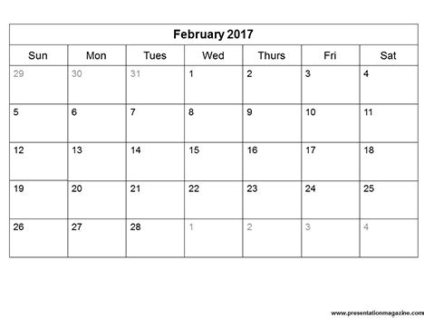 monthly calendar template 2017 free 2017 monthly calendar template sunday start
