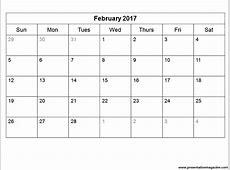 Blank Monthly Calendar 2017 2018 calendar printable