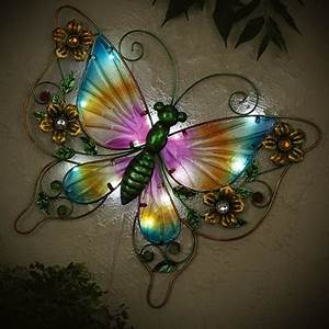 Outdoor Spot Lights Solar Solar Butterfly Feature With Light Innovations