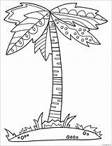 Palm Tree Pages Coloring Printable Nature Coloringpagesonly sketch template