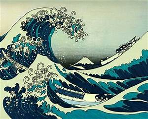 artwork monkeys the great wave off kanagawa 1280x1024 ...