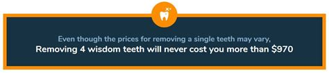 On average, people without dental insurance could pay as little as $720 for the whole procedure, up to $2,735. WISDOM TEETH REMOVAL SYDNEY - ALL 4 $970 - Free Consultation