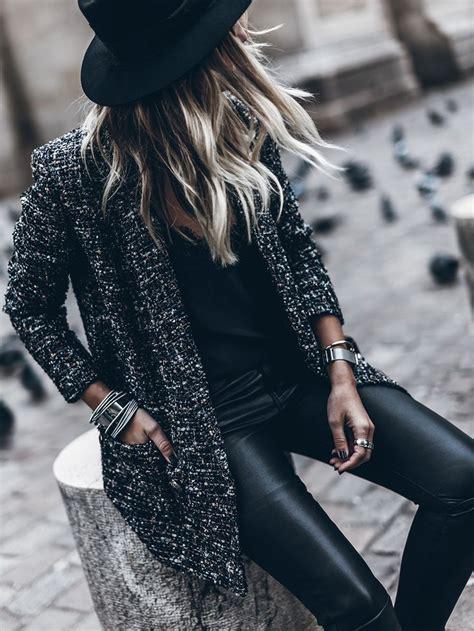 abbinare  leggings  pelle inverno