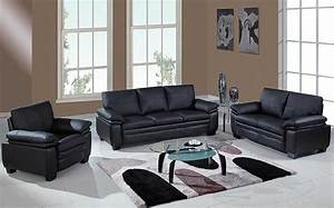 Black living room furniture ideas in various of styles for Black and glass living room furniture