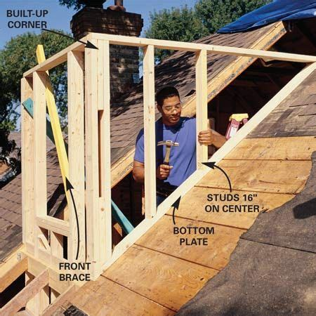 Building A Dormer Roof by How To Frame A Gabled Dormer Finishing Attic Space