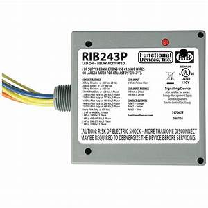 Functional Device Rib243p 3-pole No 3pst T Style Enclosed Power Control Relay 277
