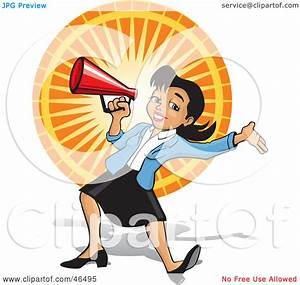 Royalty-Free (RF) Clipart Illustration of an Energetic ...