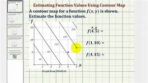 Ex 1  Determine A Function Value Using A Contour Map