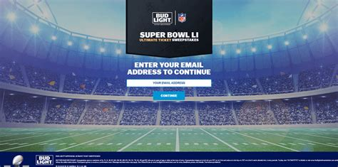 bud light superbowl sweepstakes sweepstakeslovers daily trico sweepstakes bud light
