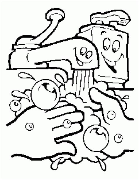 Handwashing Coloring Page  Coloring Home