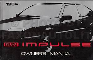 1984 Isuzu Impulse Repair Shop Manual Original