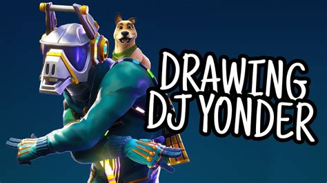 Speed Drawing Dj Yonder From Fortnite