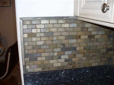 slate backsplash tiling contractor