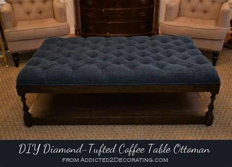 how to build an ottoman diy ottoman coffee table finished