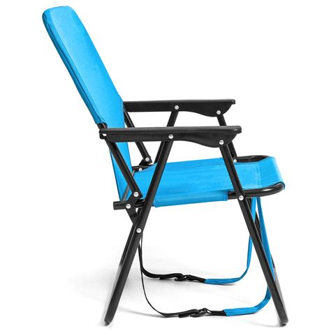 sky blue ruffle anywhere chair bcp 12 quot height seat backpack folding chair outdoor