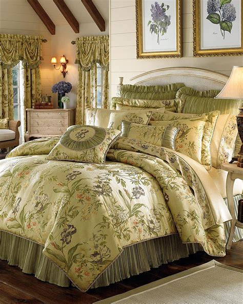 bedding comforter croscill victorian queen iris sets king ensembles luxury floral amazon gold comforters fashions french country multi opulence romantic